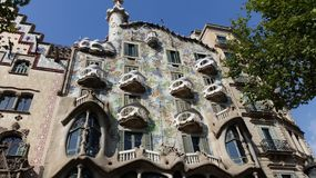 Fachada de la casa de Batllo en Barcelona Fotos de archivo libres de regalías