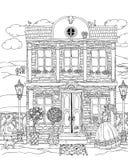 Fachada de la casa de la fantasía stock de ilustración
