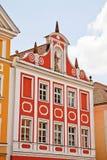 Fachada de la casa de Landshut Foto de archivo