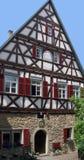 Fachada de la casa en Marbach Foto de archivo libre de regalías