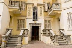 Fachada de la casa vieja renovada Israel Foto de archivo libre de regalías