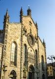 Fachada de la catedral de Como fotos de archivo