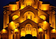 Fachada de la catedral de la trinidad del St. Fotos de archivo libres de regalías