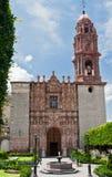 Fachada de la catedral de San Miguel Allende Imágenes de archivo libres de regalías