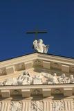 Fachada de la catedral de Vilnius foto de archivo libre de regalías