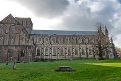 Fachada de la catedral de Winchester en Inglaterra Imagen de archivo libre de regalías