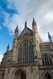 Fachada de la catedral de Winchester en Inglaterra Foto de archivo