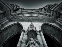 Fachada de la catedral en Orleans Imágenes de archivo libres de regalías