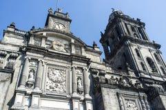 Fachada de la catedral metropolitana en Ciudad de México - México imagen de archivo