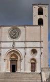 Fachada de la catedral, todi Imagen de archivo