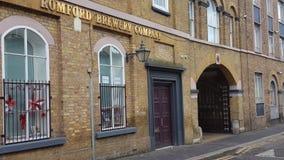 Fachada de la cervecería de Romford Fotos de archivo libres de regalías