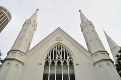 Fachada de la entrada de la iglesia Imagen de archivo libre de regalías
