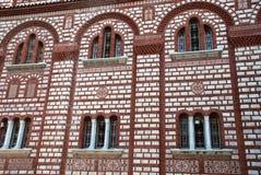 Fachada de la iglesia cristiana en Grecia Fotografía de archivo libre de regalías