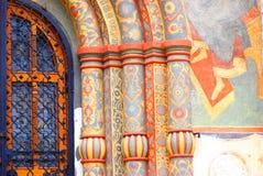 Fachada de la iglesia de Dormition Moscú Kremlin Imagen de archivo libre de regalías