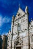 Fachada de la iglesia del all'Olmo de San Gennaro en Nápoles, Italia imágenes de archivo libres de regalías