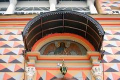 Fachada de la iglesia en la trinidad Sergius Lavra Foto de archivo libre de regalías
