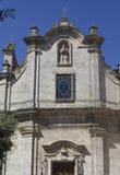 Fachada de la iglesia de San Francesco da Paola en Matera Fotografía de archivo libre de regalías