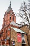 Fachada de la iglesia de Sankt Marien o de St Mary imagenes de archivo