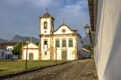 Fachada de la iglesia de Santa Rita de Cassia en Paraty fotografía de archivo libre de regalías