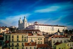 Fachada de la iglesia de Vicente de Fora del sao en Lisboa, Portugal Imagen de archivo libre de regalías
