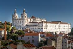 Fachada de la iglesia de Vicente de Fora del sao en Lisboa, Portugal Imagenes de archivo