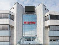 Fachada de la oficina de Ricoh Imagen de archivo libre de regalías