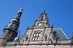 Fachada de la universidad de Groninger, los Países Bajos Foto de archivo libre de regalías