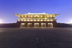 Fachada de la vista daming de la noche del palacio Imagen de archivo