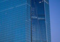 Fachada de las jefaturas del Banco Central Europeo en Francfort Foto de archivo libre de regalías