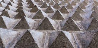 Fachada de las pirámides de la roca fotos de archivo libres de regalías