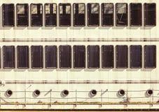 Fachada de las portas de Windows de una nave Fondo regular Imagenes de archivo