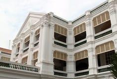 Fachada de las rifas hotel, Singapur Foto de archivo