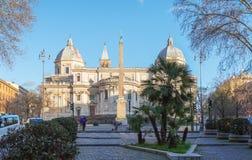 Fachada de los di Santa Maria Maggiore de la basílica en Roma, Italia Fotografía de archivo libre de regalías