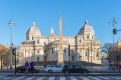 Fachada de los di Santa Maria Maggiore de la basílica en Roma, Italia Foto de archivo
