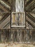 Fachada de madeira velha Fotografia de Stock Royalty Free