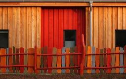 Fachada de madera Foto de archivo libre de regalías