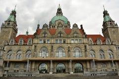 Fachada de Neues Rathaus en Hannover foto de archivo