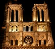 Fachada de Notre Dame Imagem de Stock Royalty Free