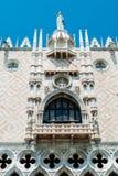 Fachada de Piazzetta dos doges palácio, Veneza Fotografia de Stock