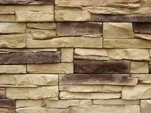 Fachada de piedra empilada Imagen de archivo libre de regalías