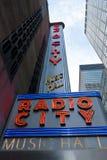 Fachada de rádio do auditório da cidade, New York Fotografia de Stock