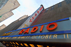 Fachada de rádio do auditório da cidade, New York Fotos de Stock Royalty Free