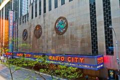 Fachada de rádio do auditório da cidade, New York Imagens de Stock