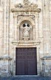 Fachada de San Nicolás en Villafranca del Bierzo Imagenes de archivo
