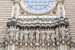 Fachada de Santa Maria de Montserrat Abbey, España Imagen de archivo