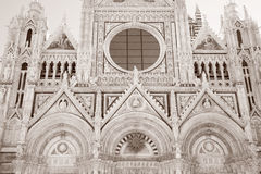Fachada de Sienna Cathedral Church, Toscana fotos de archivo libres de regalías