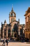 Fachada de St Giles Cathedral Kirk alto, Edimburgo, Scotlan fotografia de stock royalty free