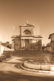 Fachada de St Joseph Church no tom do sepia de Kalkara Malta HDR Fotografia de Stock Royalty Free