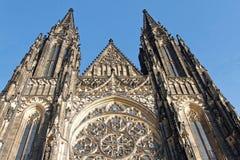 Fachada de St Vitus Cathedral, Praga Foto de Stock