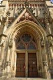 Fachada de Thomaskirche en Leipzig Imagenes de archivo